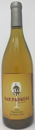 2018 Pinot Gris (San Diego County)